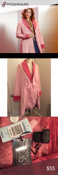 Torrid Queenie Coat - Plus Size 2 Queenie Coat from the limited edition Fantastic Beasts and Where To Find Them collection. Plus Size 2. Never worn! Tags still on. torrid Jackets & Coats Trench Coats