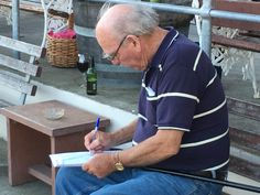 Charles hard at work