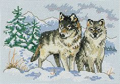 A Pair of Wolves Counted Cross Stitch                                                                                                                                                                                 More