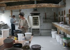 James and Tilla in the workshop. Photo by Kathryn Campbell