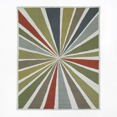 Lourdes Sanchez Wool Bulls-Eye Rug - Multi | West Elm - Possible rug for GR. Modern, bright, neutral, big.