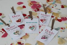 Liberty print and linen Hen party badges for the whole party! £4.95 each