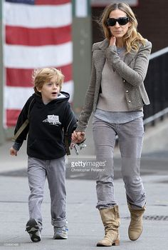 James Wilkie Broderick and Sarah Jessica Parker sighting on October 15, 2010 in New York City.