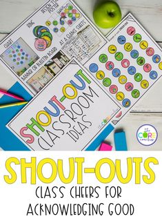 Create a positive classroom culture with these class shout-outs. Your students will love giving and receiving these cheers throughout the day.
