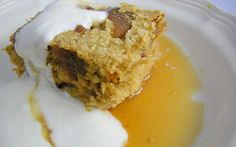Baked Oatmeal.  It's so simple to whip the ingredients together.  It keeps really well, too.