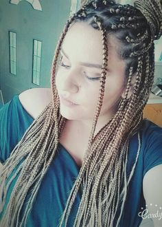 Meatball hair  #box #braids #blondie #love #them