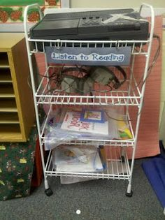 Delightful Daily 5 Cafe: Getting the Teacher Started with Listen to Reading- inc links to online books Daily 5 Reading, 2nd Grade Reading, Teaching Reading, Reading Resources, Teaching Ideas, Daily 5 Kindergarten, Literacy Cafe, Daily 5 Activities, Listen To Reading
