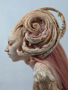 "Fantasy | Whimsical | Strange | Mythical | Creative | Creatures | Dolls | Sculptures | Virginie Ropars ""Her"" Krabjabstudios"