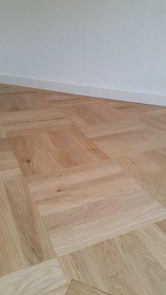 eiken blok patroon vloer  afwerking devo natural stomp mat