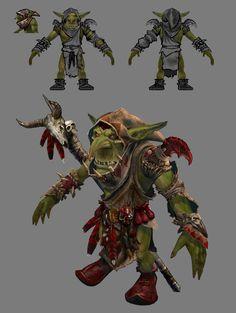 ArtStation - Greenskins MMO Armor , Ted Beargeon