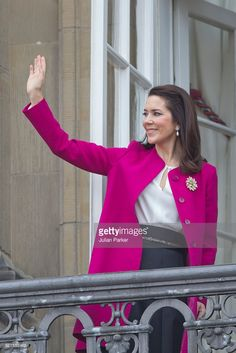 Crown Princess Mary attends Queen Margrethe II of Denmark's 76th Birthday Celebration at Amalienborg Palace on April 16, 2016 in Copenhagen, Denmark.