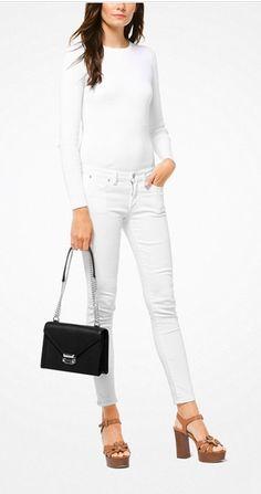 bafdeb99985719 Oh my new classic black handbag, how I love you! MICHAEL KORS Whitney Large  Leather Convertible Shoulder Bag