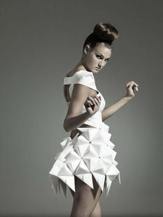 Futuristic Geometric Dresses  - These beautiful futuristic geometric dresses by designers Mercedes Arocena and Lucia Benitez showcases the amazing results you can achieve by playi...