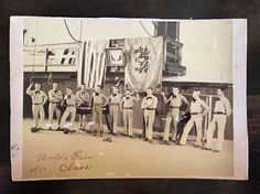 Antique 1893 Worlds Fair Photograph of Athletic Strong Men Weightlifting Athlete