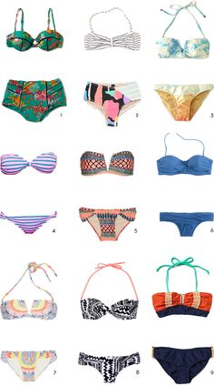 two piece bathing suits LITERALLY I WANT THEM #ALL