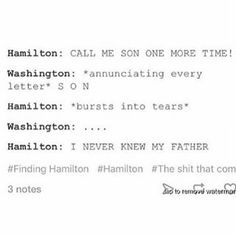 Oh I done messed up!<< Washington: I'm sorry, lil buddy you ok? Ham *still crying*: n-n- no! Laurens *bursting through the wall* did you make my boyfriend cry? Washington, sobbing: We're trying to win a war here Theatre Nerds, Musical Theatre, Theater, Nos4a2, John Laurens, Hamilton Fanart, Hamilton Lin Manuel Miranda, Aaron Burr, Hamilton Musical