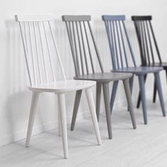 Paint colours for half painted chairs