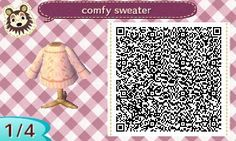 """thatdirtyallogay: """"im getting back into acnl and i mixed a few of @acnlapparel's methods to create this cute little creme cableknit sweater!!!! """""""