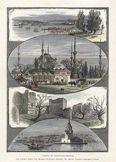 Turkey, Views in Constantinople, 1875