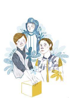 CAPTAIN FANTASTIC (2016) by Ana Pedreira http://annapedreira.blogspot.com.es #captainfantastic #illustration #ilustración #movie #GeorgeMackay