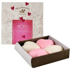 Hearts Collection of Shea Butter Soap Gift Box | Smallflower.com