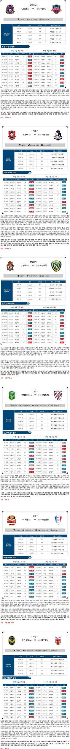 [축구]★토정비결★3월  5일 <K>리그 챌린지/클래식 종합>