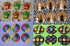 Apples to Apples, Back Gammon, Cranium and Lite Brite Gum paste Cupcake toppers