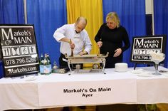 Markohs' on Main getting ready for attendees  (Taste of Nashoba 03/19/13)