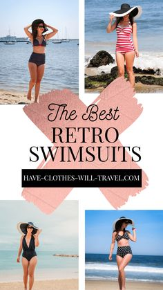 I'm reviewing 7 of my favorite retro swimsuits that I've worn for a variety of vacations! From shark cage diving & parasailing to boating & beachside vacations and more! Featuring flattering one-piece swimsuits and also high-waisted bikinis. #swimwear #retro #vintagestyle #swimsuits