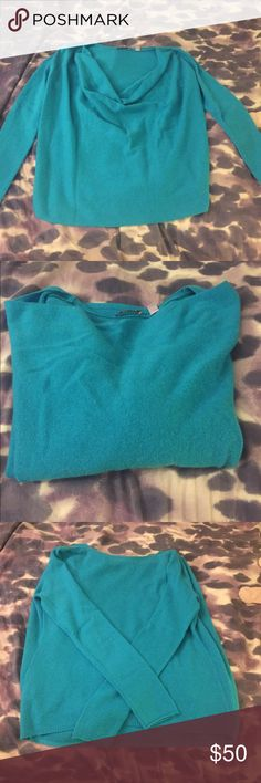 CULLEN Cashmere Sweater gorgeous turquoise sweater. 100% cashmere, featuring a flattering cowl neckline. In great condition, price is negotiable. Brand listed as Michael Kors because Cullen doesn't exist on Posh. Michael Kors Sweaters Cowl & Turtlenecks