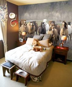 The Kentucky Derby has us pulling our favorite customer photos with horse themed bedrooms!