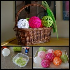 Glue Yarn Balls. Perfect decorations for an #ILoveYarnDay party!