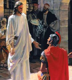 "Do you believe in Jesus' power to heal? The Roman centurion in the Bible story said to Jesus, ""Just say the word."" He put faith in the power of Jesus' words and his servant was healed."