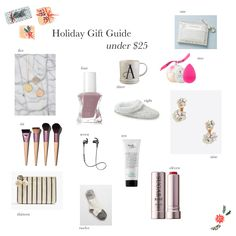 Holiday Gifts (for her) Under $25 // by Kate Bryan at the Small Things Blog