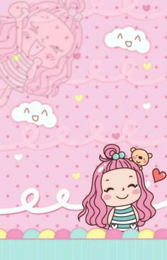 Kawaii Wallpaper, Kawaii Girl, Love Art, Cute Wallpapers, Cute Girls, Baby Dolls, Diy And Crafts, Hello Kitty, Barbie