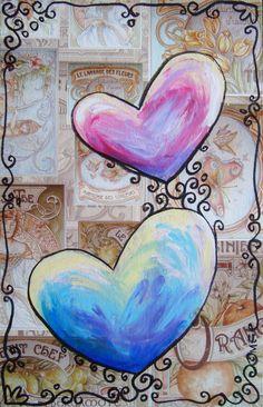 #love #hearts  #art of Elena Mirandola
