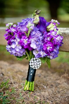 Glamour purple bouquet (@Sigma Sigma Sigma National Sorority)