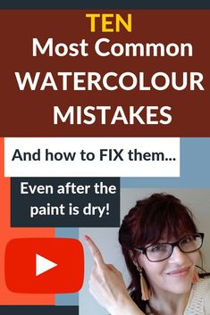In this video I show you how to fix ten of the most common watercolour mistakes – even after your paint has dried!