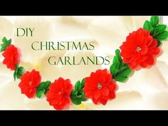 Como hacer flores Nochebuena a Crochet en punto 3D tejido tallermanualperu | Cantinho do Video Diy Christmas Garland, Christmas Crafts To Sell, Simple Christmas, Holiday Crafts, Christmas Holidays, Christmas Decorations, Diy House Signs, Diy Flowers, Paper Flowers