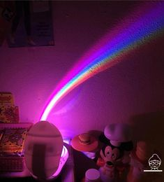 Romantic Gradient Rainbow Shadow Projector Night Lamp sold by Littlepinko. Shop more products from Littlepinko on Storenvy, the home of independent small businesses all over the world. Room Ideas Bedroom, Bedroom Decor, Romantic Night, Pineapple Print, Night Lamps, Room Lights, Diy Home, Home Decor, Butterfly Print