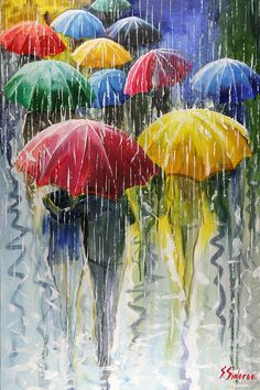 Rain In The City Painting