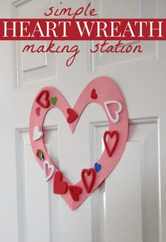 Toddler Approved!: Simple Heart Wreath Making Station for Toddlers