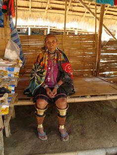 The oldest Kharen woman, the most important person in village