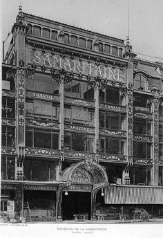 jourdain's samaritaine department store, paris via swanclothing Paris 1900, Old Paris, Vintage Paris, Paris France, Paris Paris, Old Pictures, Old Photos, Vintage Photos, Photography Store