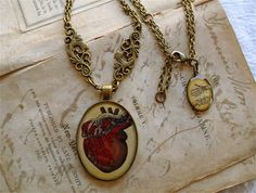 Anatomical Heart Statement Necklace  by TheLysineContingency, $28.00
