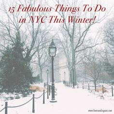Back at it with another seasonal guide to NYC! (You can see last year's holiday guide here and...