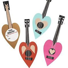 Guitar Valentine Card (kit) from Paper Source