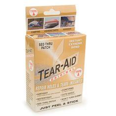 Canvas Repair Tape - Tear-Aid Repair Kit Type A - Sticks to Sunbrella!