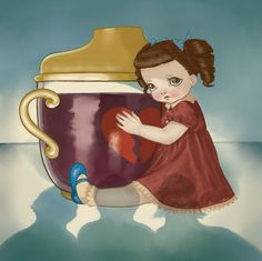 """Sippy Cup by Melanie Martinez """"She watches momma sip a drink Out of a sippy cup that's pink Because of that you'd never think That she'd pass out under the sink"""""""