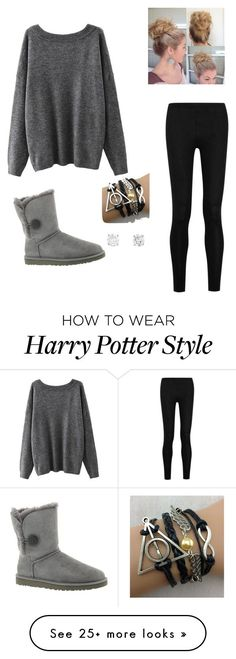 """""""Cute and casual"""" by minabean on Polyvore featuring Donna Karan and UGG Australia"""